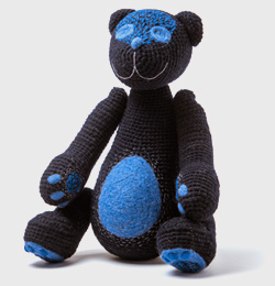 The dark blue bear of the secrets  with the touch of summer nights(order time 2 weeks)